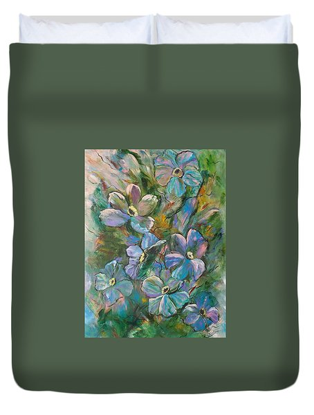 Colorful Floral Duvet Cover