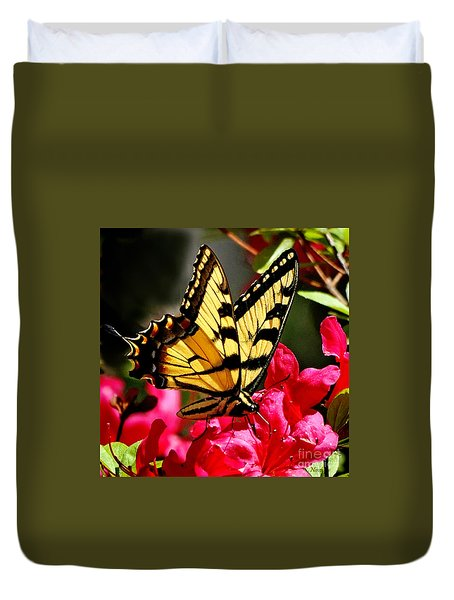 Colorful Flying Garden Duvet Cover