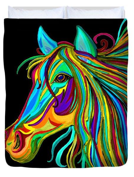 Colorful Horse Head 2 Duvet Cover