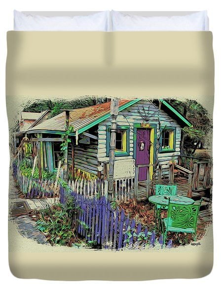 Colorful House Mentone Al Duvet Cover