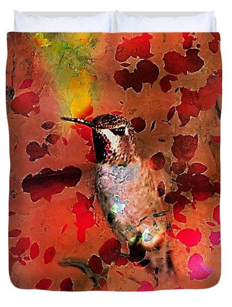 Colorful Hummingbird Duvet Cover