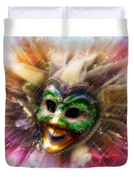 Colorful Jester Duvet Cover by Amanda Eberly-Kudamik
