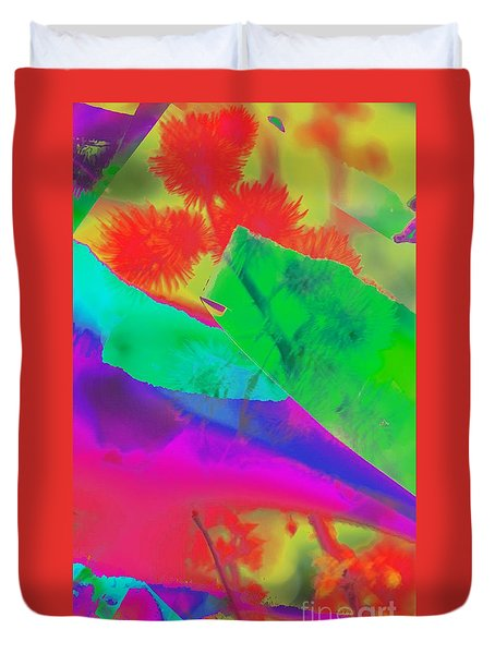 Colorful Duvet Cover by Kathleen Struckle