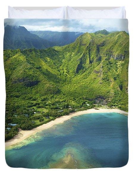 Colorful Kauai Coastline Duvet Cover by Kicka Witte