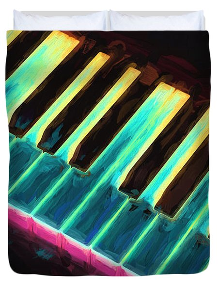 Colorful Keys Duvet Cover by Bob Orsillo