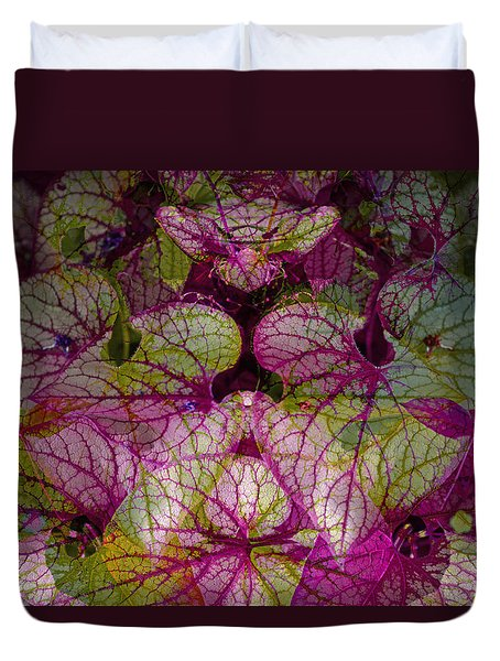 Colorful Leaf Duvet Cover by Eiwy Ahlund