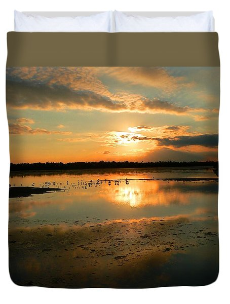 Duvet Cover featuring the photograph Colorful Light by Rosalie Scanlon