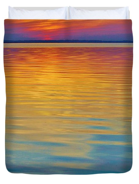 Colorful Lowtide Sunset Duvet Cover