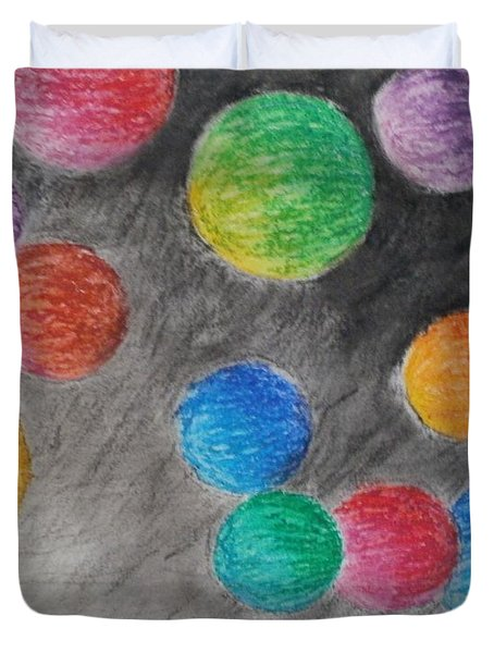 Colorful Orbs Duvet Cover by Thomasina Durkay