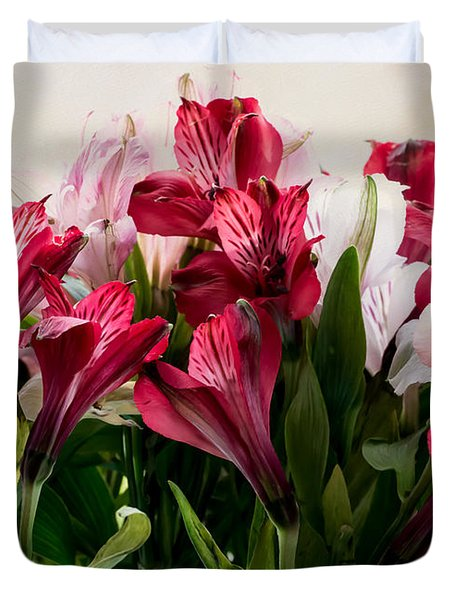 Colorful Peruvian Lillys Duvet Cover