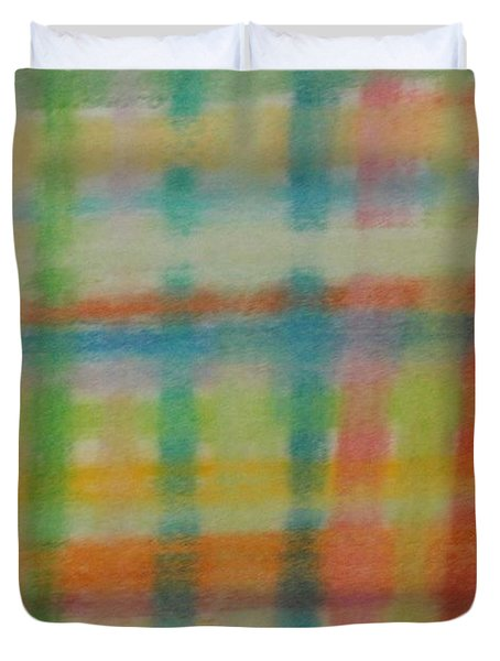 Colorful Plaid Duvet Cover by Thomasina Durkay