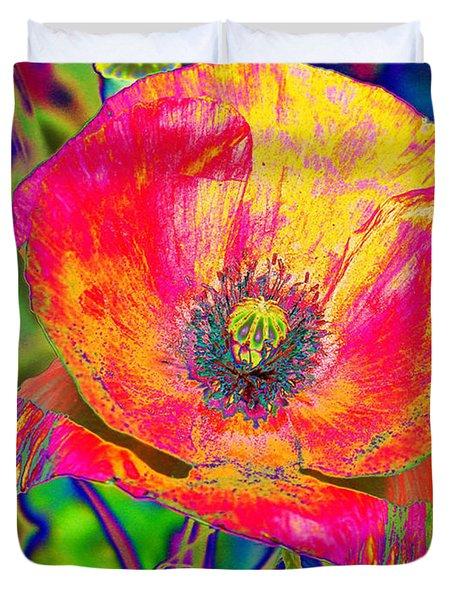 Colorful Poppy Duvet Cover by Carol Lynch