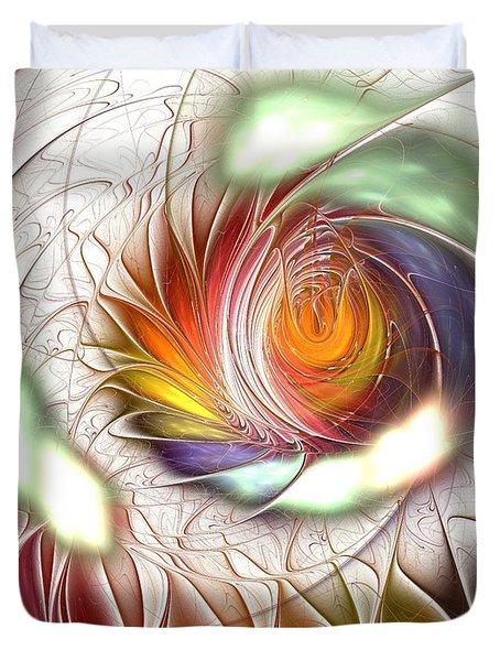 Colorful Promenade Duvet Cover