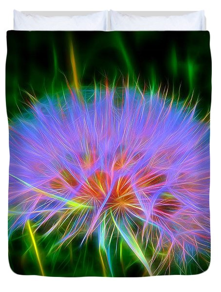 Colorful Puffball Duvet Cover by Patrick Witz