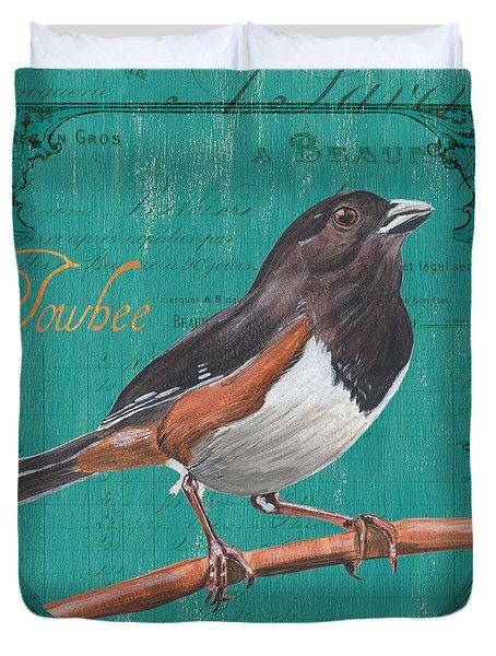 Colorful Songbirds 3 Duvet Cover by Debbie DeWitt