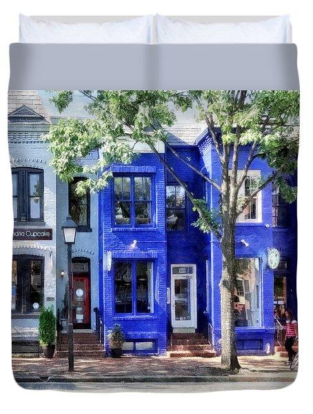 Alexandria Va - Colorful Street Duvet Cover