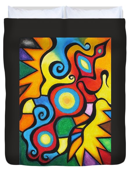 Colorful Duvet Cover by Sven Fischer