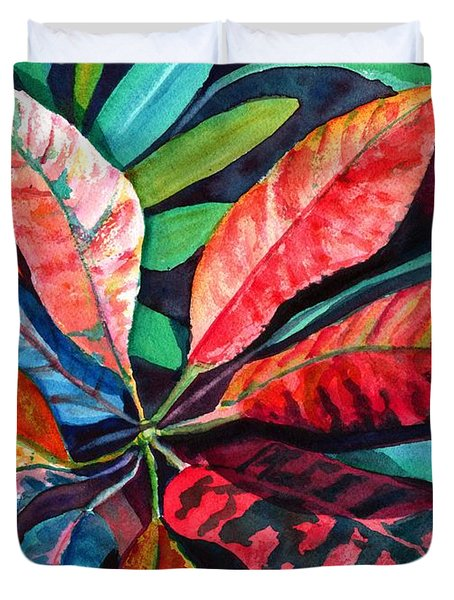 Colorful Tropical Leaves 2 Duvet Cover