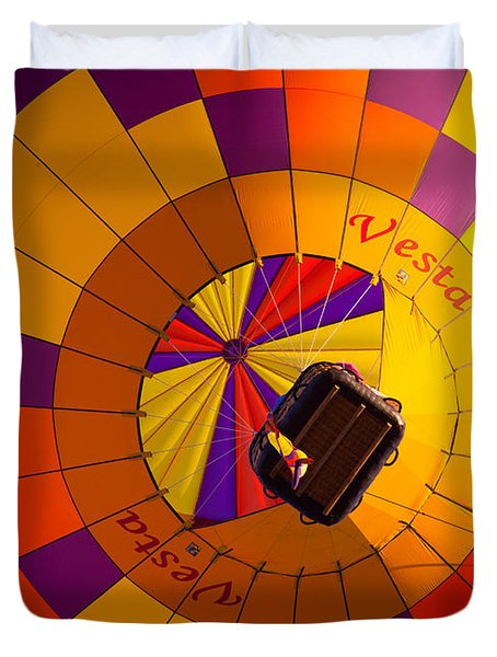 Colorful Underbelly Duvet Cover by Inge Johnsson
