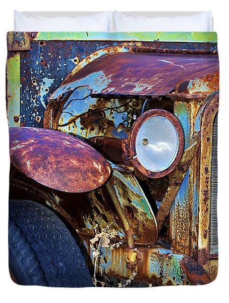 Colorful Vintage Car Duvet Cover