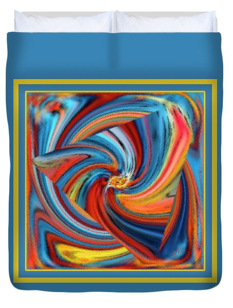 Colorful Waves Duvet Cover by Ben and Raisa Gertsberg