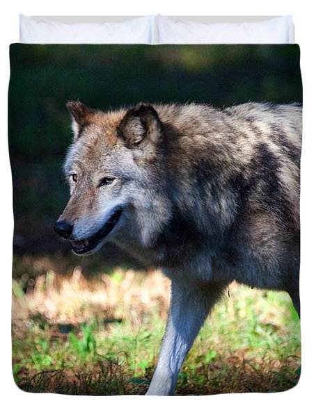 Colorful Wolf Duvet Cover by Karol Livote