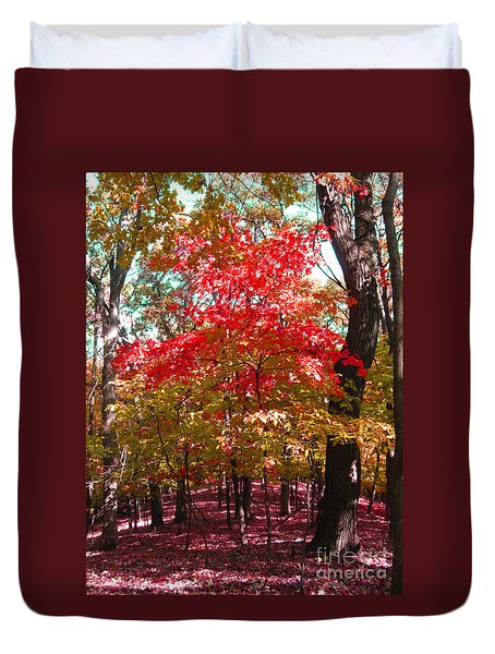 Colorful Woodland Duvet Cover