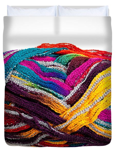 Colorful Yarn Duvet Cover