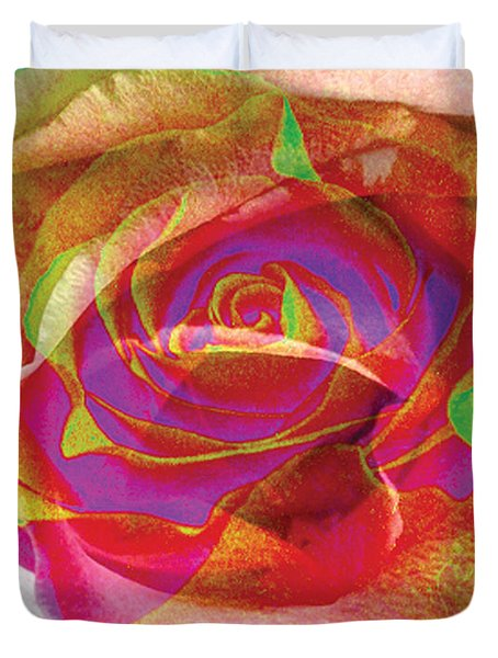 Colorfull Rose Duvet Cover