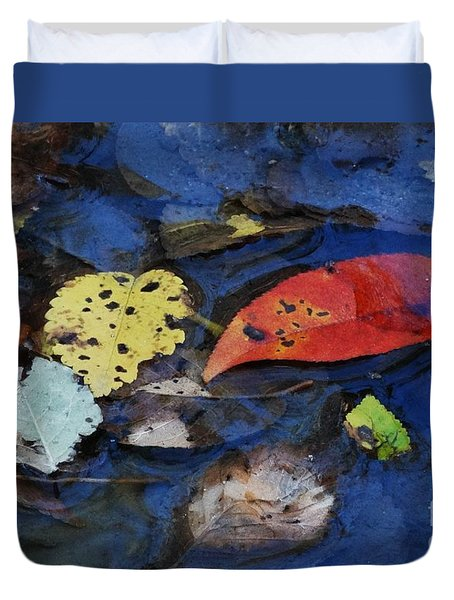 Duvet Cover featuring the photograph Colors A Drift by J L Zarek