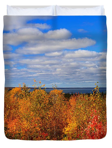 Colors Above Lake Superior Duvet Cover by Rachel Cohen