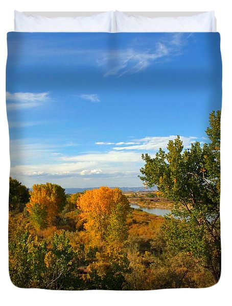 Colors Along The Colorado Duvet Cover by Bob Hislop