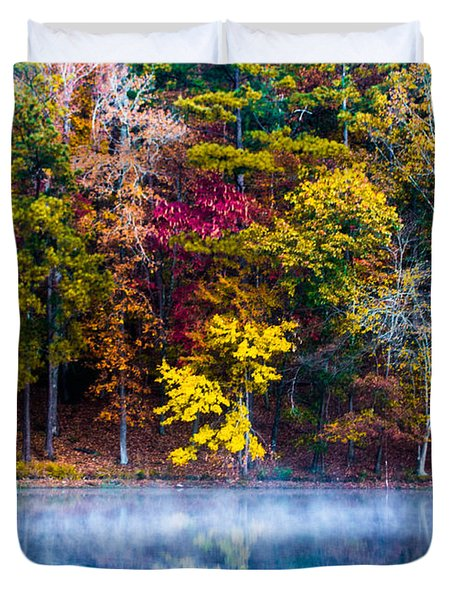 Colors In Early Morning Fog Duvet Cover