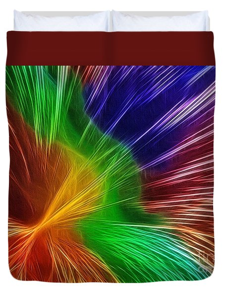 Colors Lines And Textures Duvet Cover by Kaye Menner