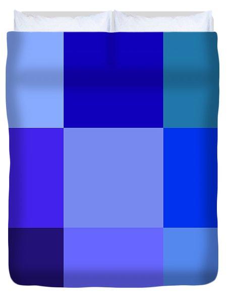 Colors Of Blue Duvet Cover by Karon Melillo DeVega