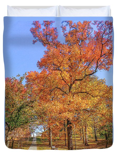 Colors Of Fall Duvet Cover