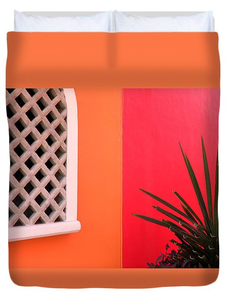 Colors Of Mahahual Duvet Cover