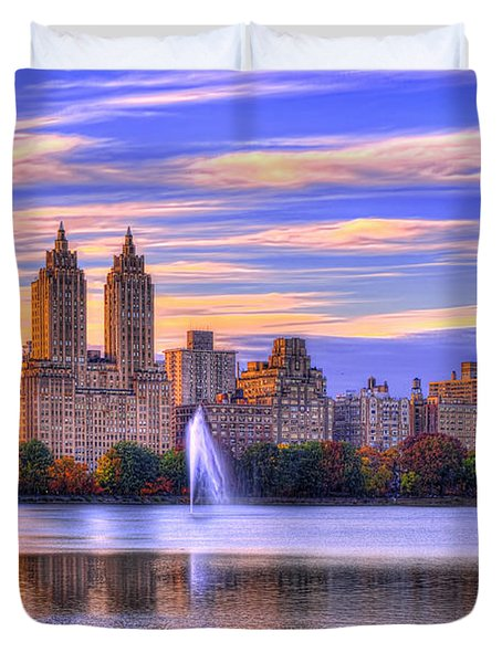 Colors Of New York Duvet Cover by Midori Chan