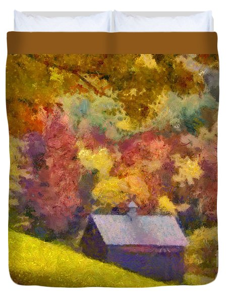 Colors Of October Duvet Cover
