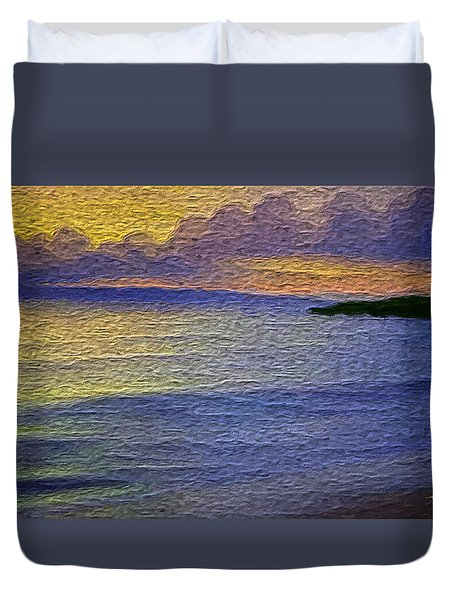 Duvet Cover featuring the digital art Colors Of Paradise by Anthony Fishburne