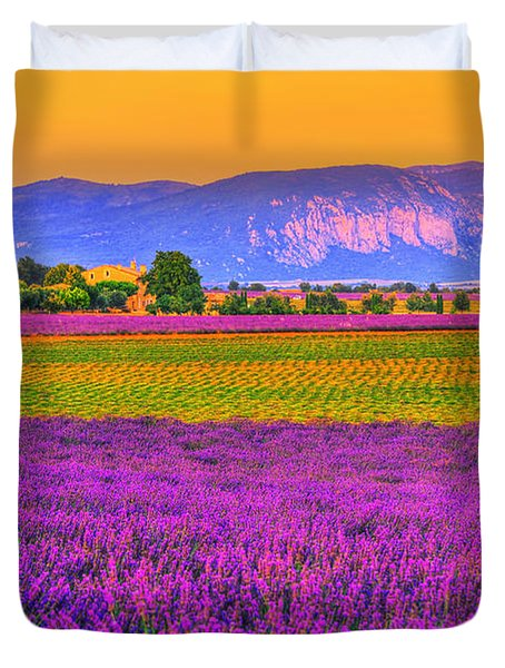 Colors Of Provence Duvet Cover