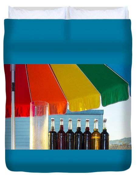Colors Of Santa Monica Beach Duvet Cover by Ben and Raisa Gertsberg