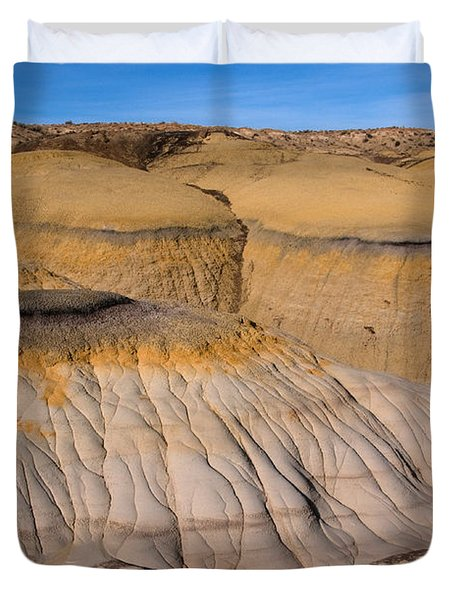Colors Of The Badlands Duvet Cover by Vivian Christopher