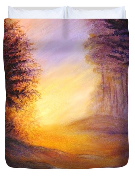 Colors Of The Morning Light Duvet Cover by Lilia D