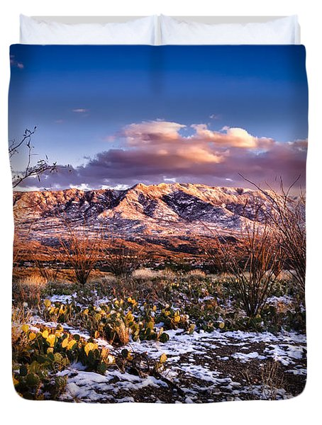 Colors Of Winter Duvet Cover
