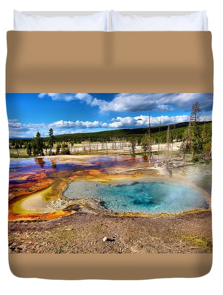 Colors Of Yellowstone National Park Duvet Cover