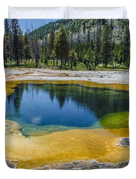 Colors Of Yellowstone Duvet Cover