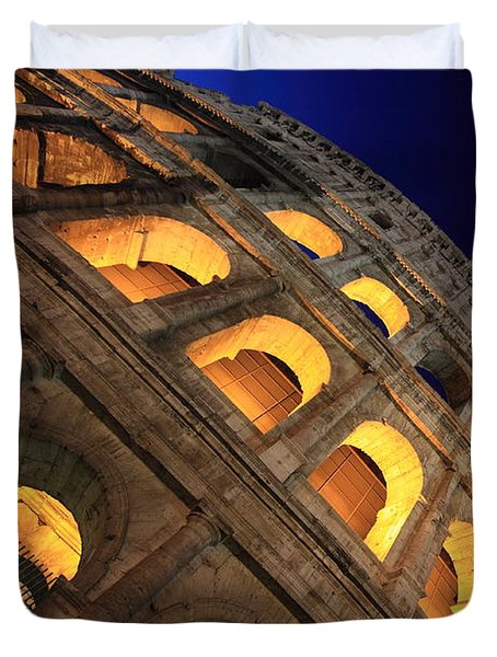 Colosseum At Night Duvet Cover by Stefano Senise