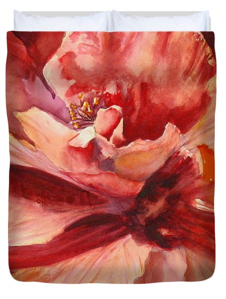 Colourful Hibiscus Duvet Cover by Mohamed Hirji