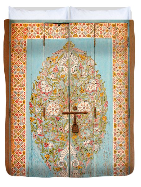 Colourful Moroccan Entrance Door Sale Rabat Morocco Duvet Cover